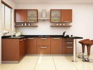 Modular Kitchen with Breakfast counter