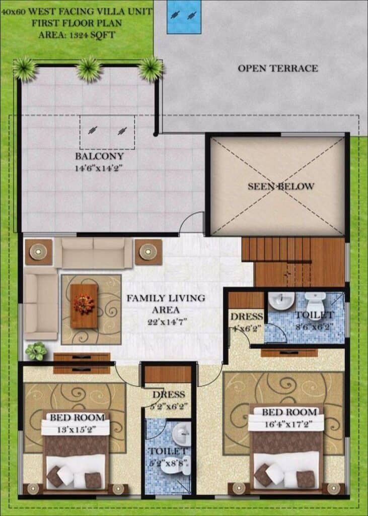 Architectural Plan by Flicha Interiors, Bangalore