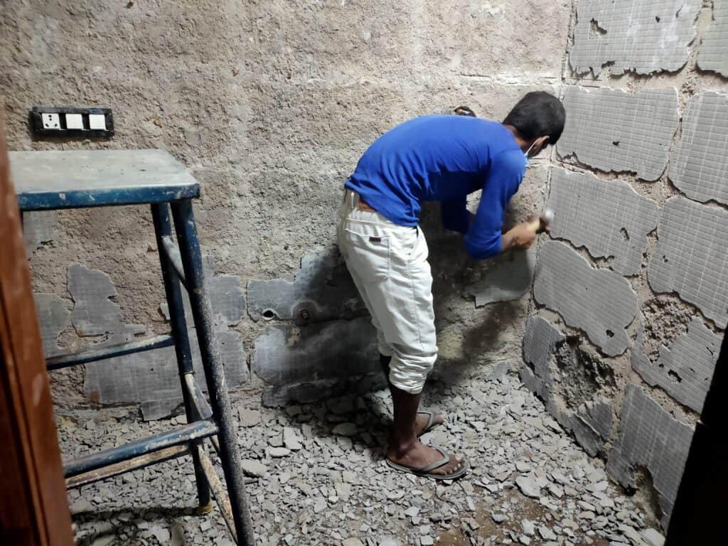 Home Renovation Tiles Demolition Work
