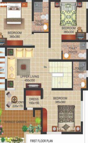 Architectural Plan by Flicha Interiors, Bangalore