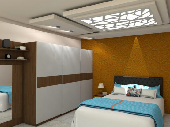 Master Bedroom Interior Design by Flicha Interiors, Bangalore