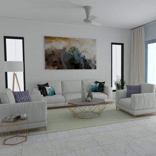 Living Room Interior Design, Flicha Interiors